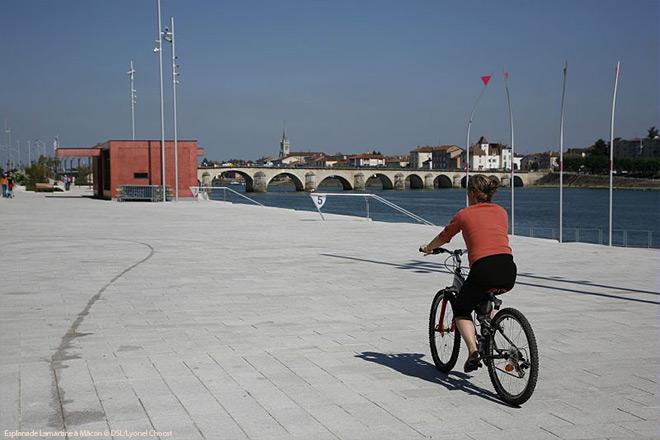 Esplanade Lamartine à Mâcon © DSL/Lyonel Chocat