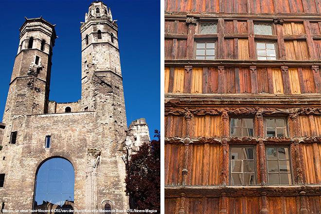 Mâcon : Le vieux Saint-Vincent © DSL/van der Stockt Kris et la Maison de Bois © DSL/Itinera Magica