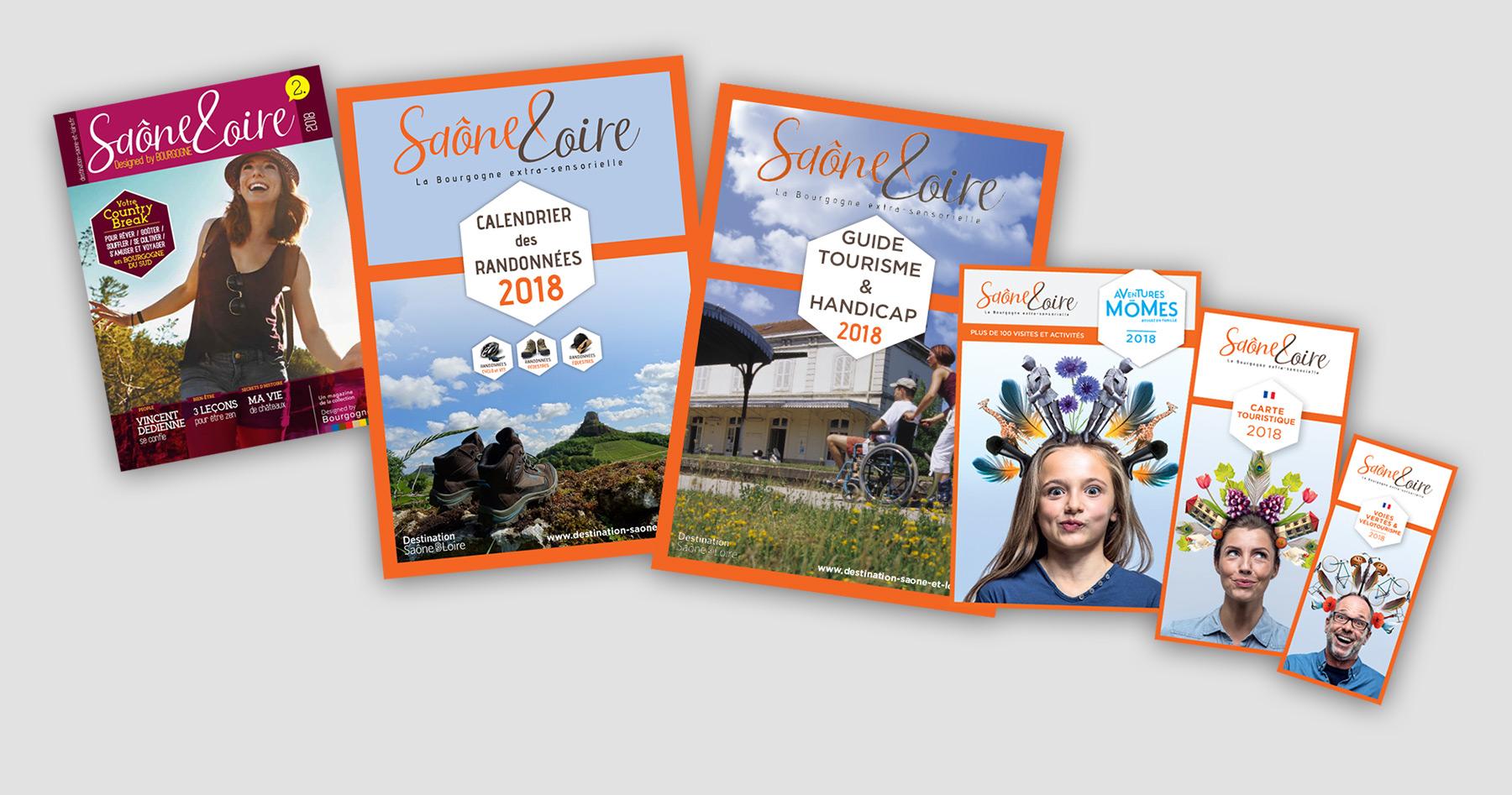 Brochures de l 39 office de tourisme de sa ne et loire - Office tourisme saone et loire ...